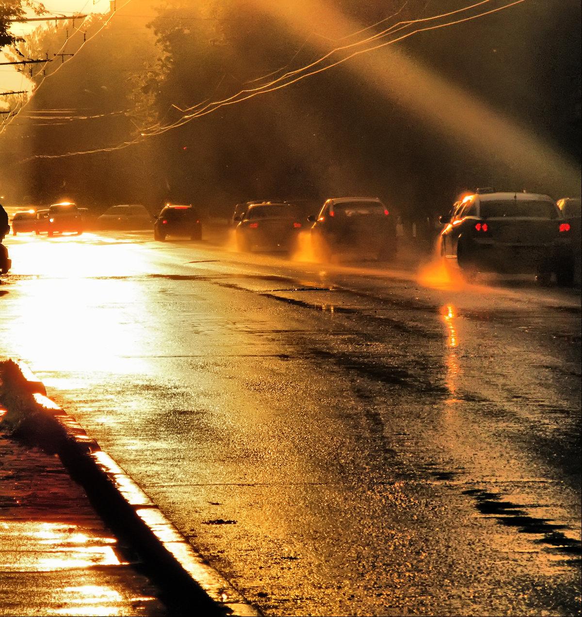 окончанию съемок дождь на дороге картинка для школа