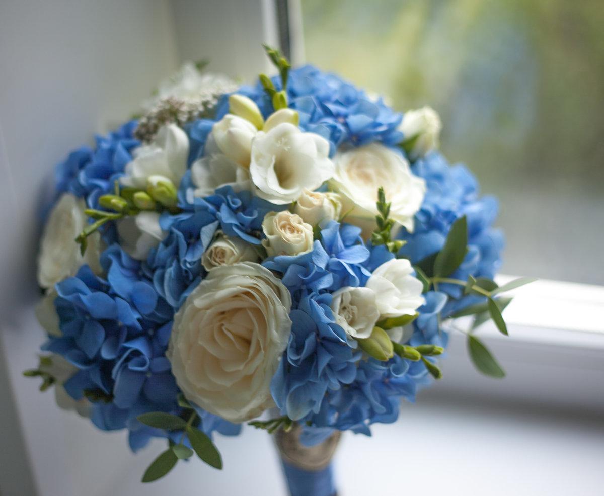 Цветы екатеринбург, свадебный букет с гортензией