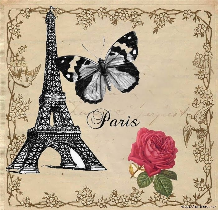 Париж стиль в открытках