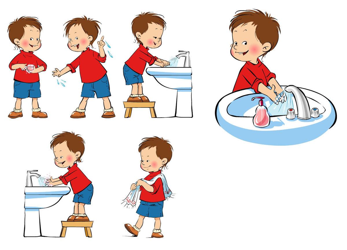 Картинка дети вытираются полотенцем в детском саду