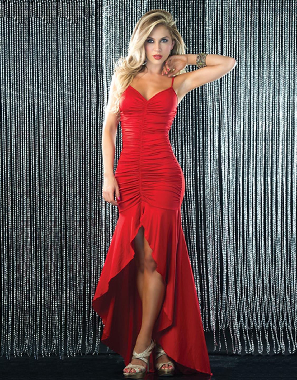 красное сексуальное платье фото
