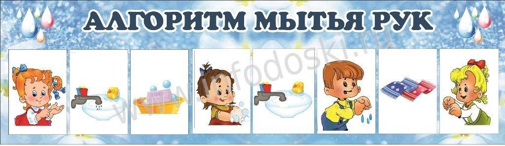 Картинка алгоритм мытья рук в детском саду в картинках, будет