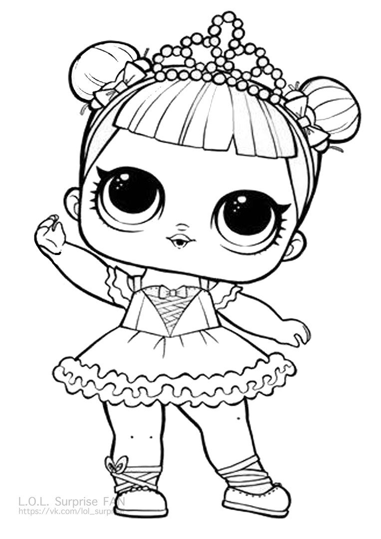 Center Stage LOL Doll Coloring