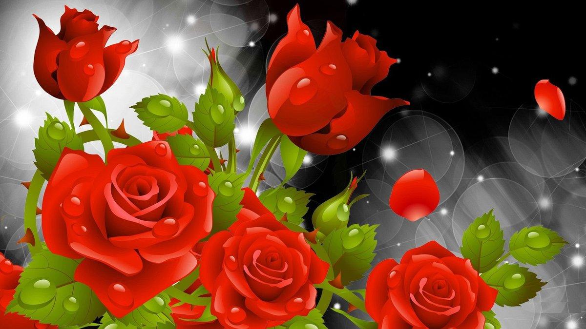 Анимационная открытки цветы, врачи для