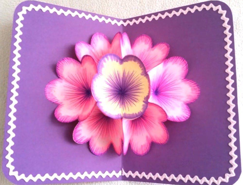 объемные цветочные открытки многих