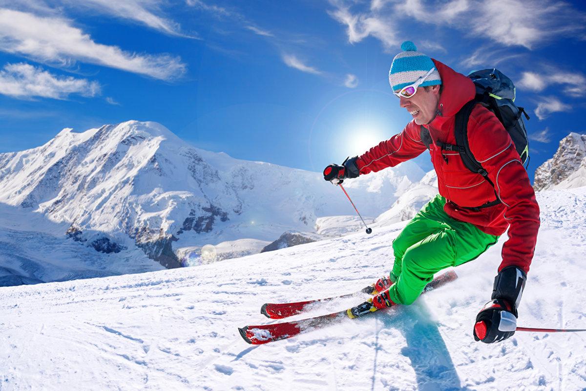 Картинки человека на лыжах