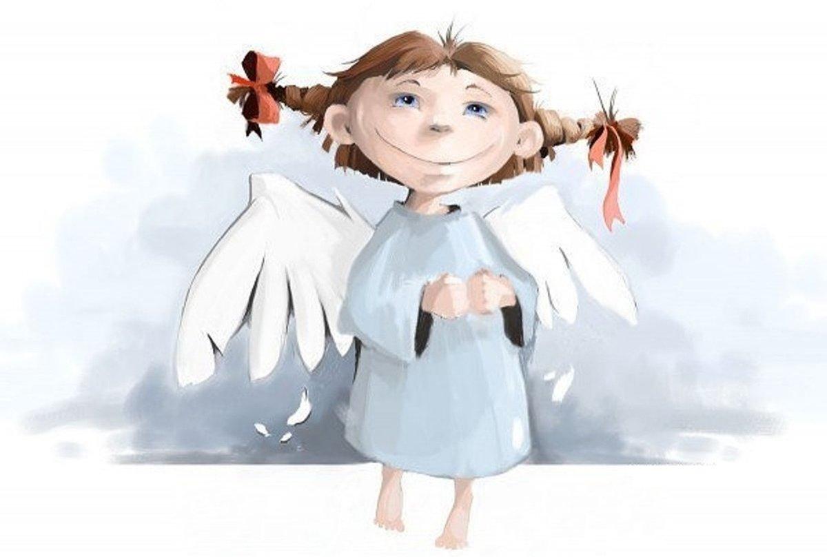 Открытки, смешная картинка ангела