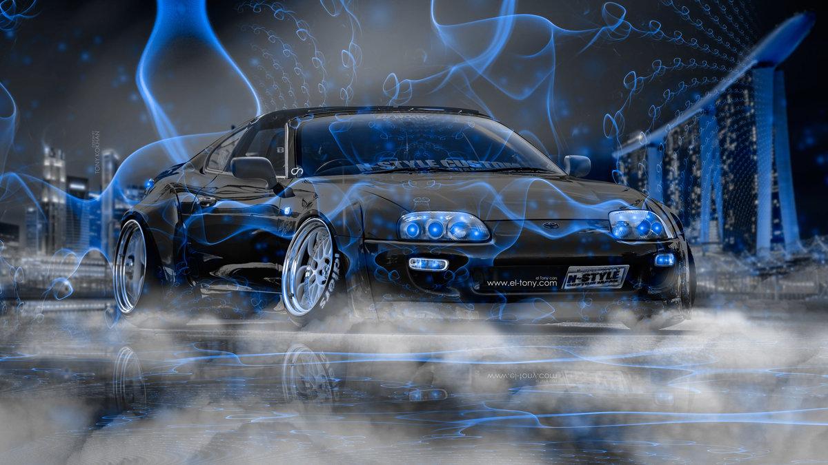 Toyota Supra JZA80 JDM Tuning 3D N Style