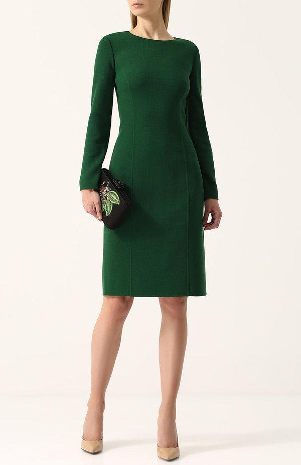 Модные Платья Зеленого Цвета Из Тонкой Шерсти