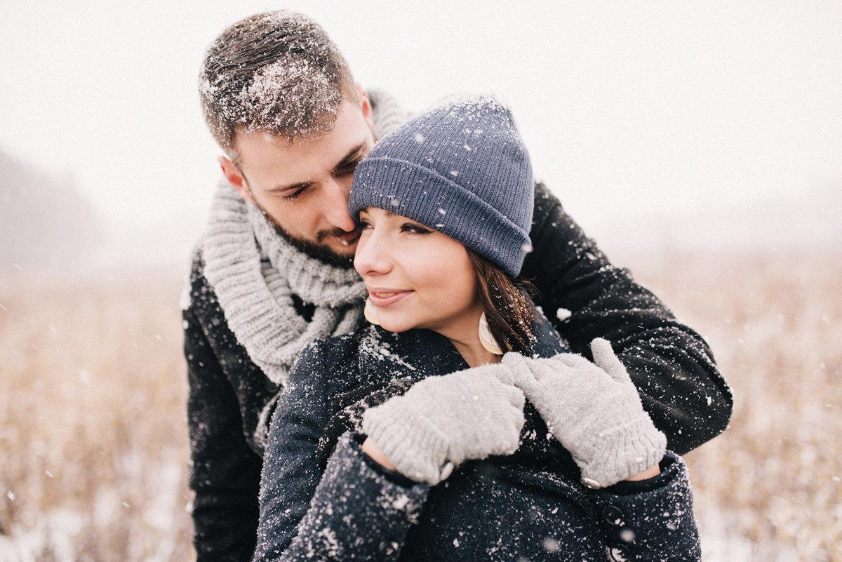 Зимние картинки влюбленных пар
