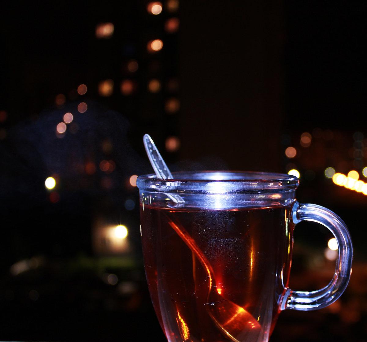 Чашка чая вечером картинки