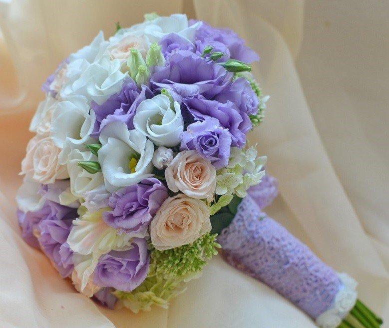 Цветы воронеж, фиолетовые букеты невесты купить