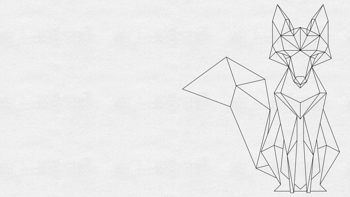 лиса из треугольников рисунок шельфовый ледник