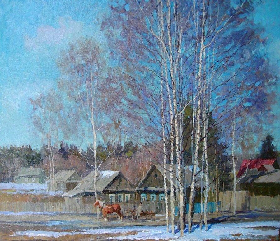 картинки с изображением весны в деревне картины