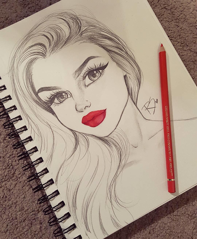 Дню, идея для рисунка карандашом