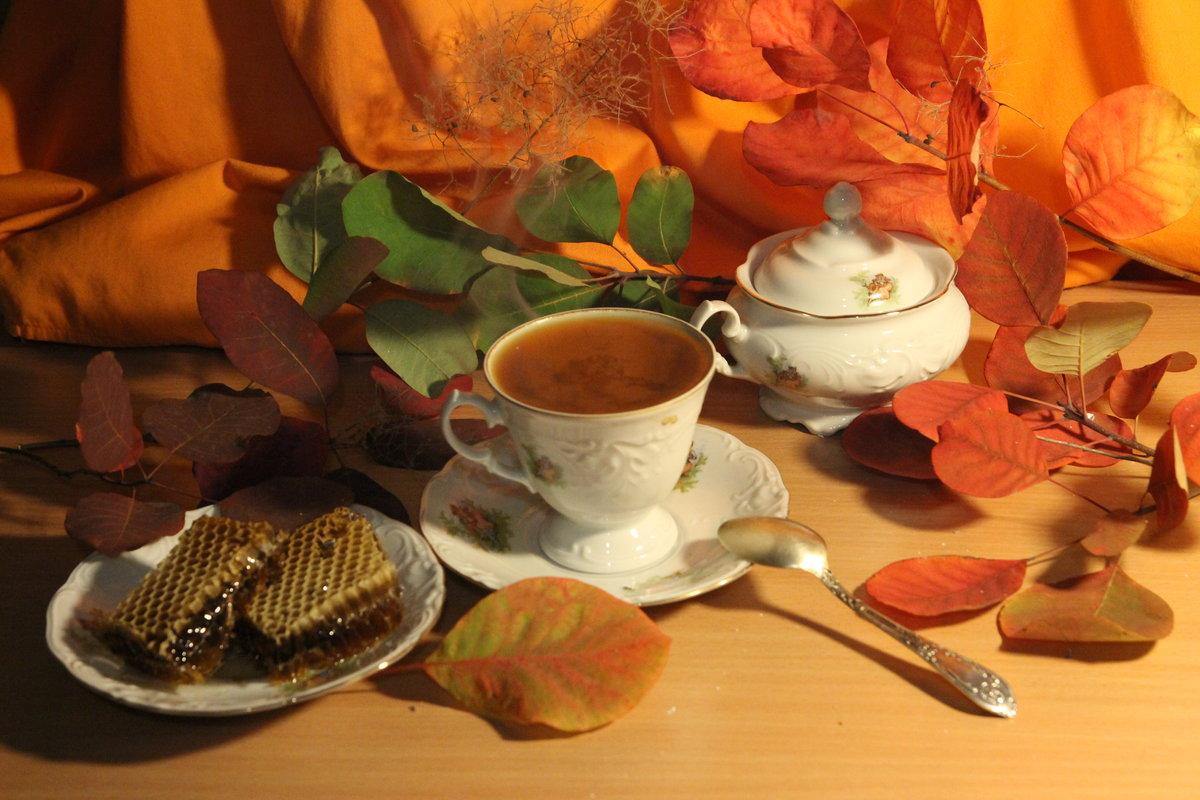 Осенние картинки с чашками