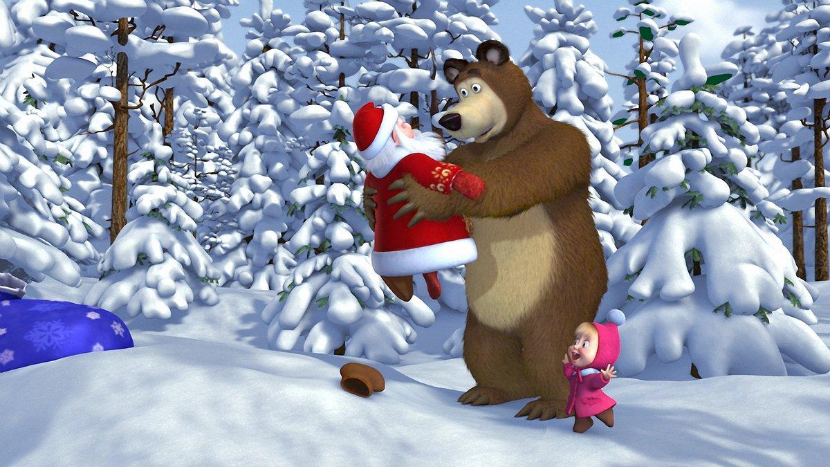 Прикольные картинки из мультиков маша и медведь