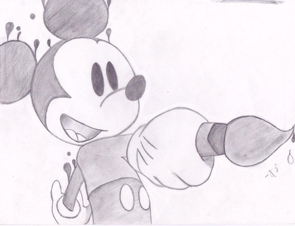 Картинки для срисовки карандашом микимауса