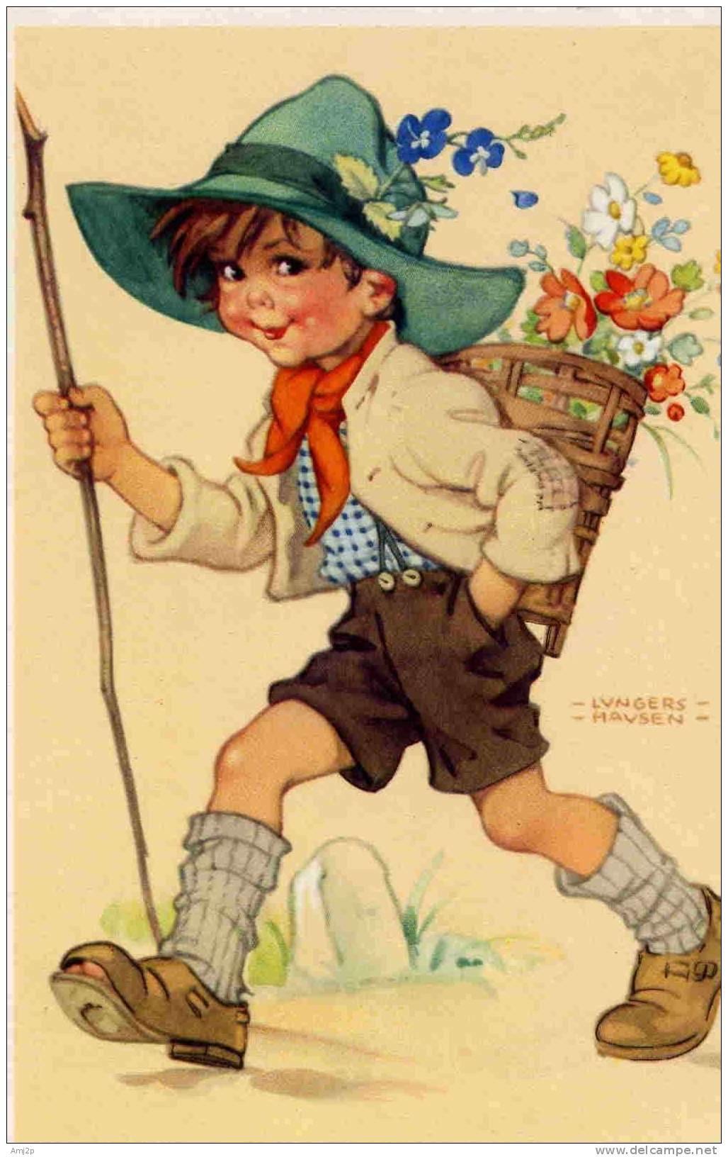 Как рисовали старые открытки, плакате