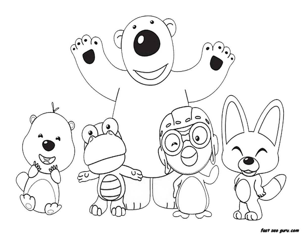 """""""Pororo Coloring Pages : Kids Coloring"""