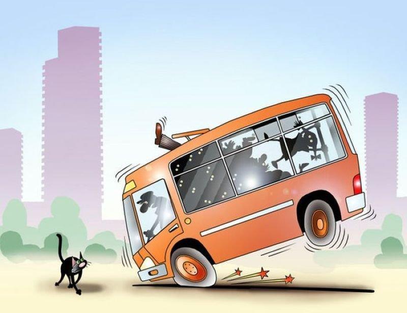 Рисунок прикольный автобус, девочке