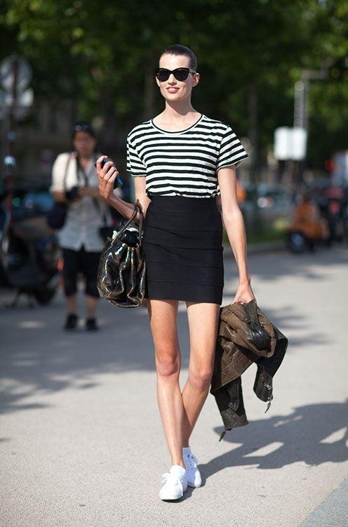 Высокой худой как одеться фото