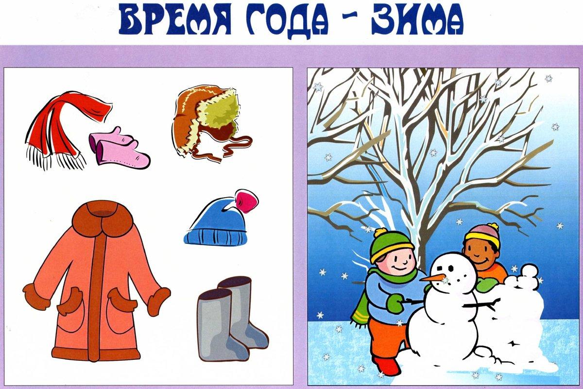 картинки предметные зимние знаю хорошо