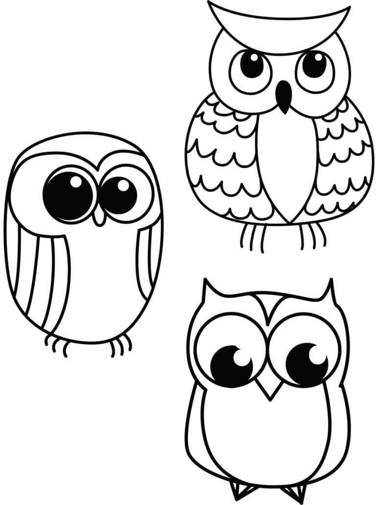 в рисунках детей сова