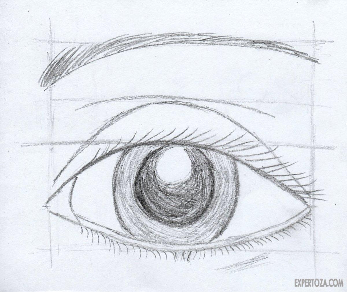 картинки карандашом как нарисовать глаза карта воротынска