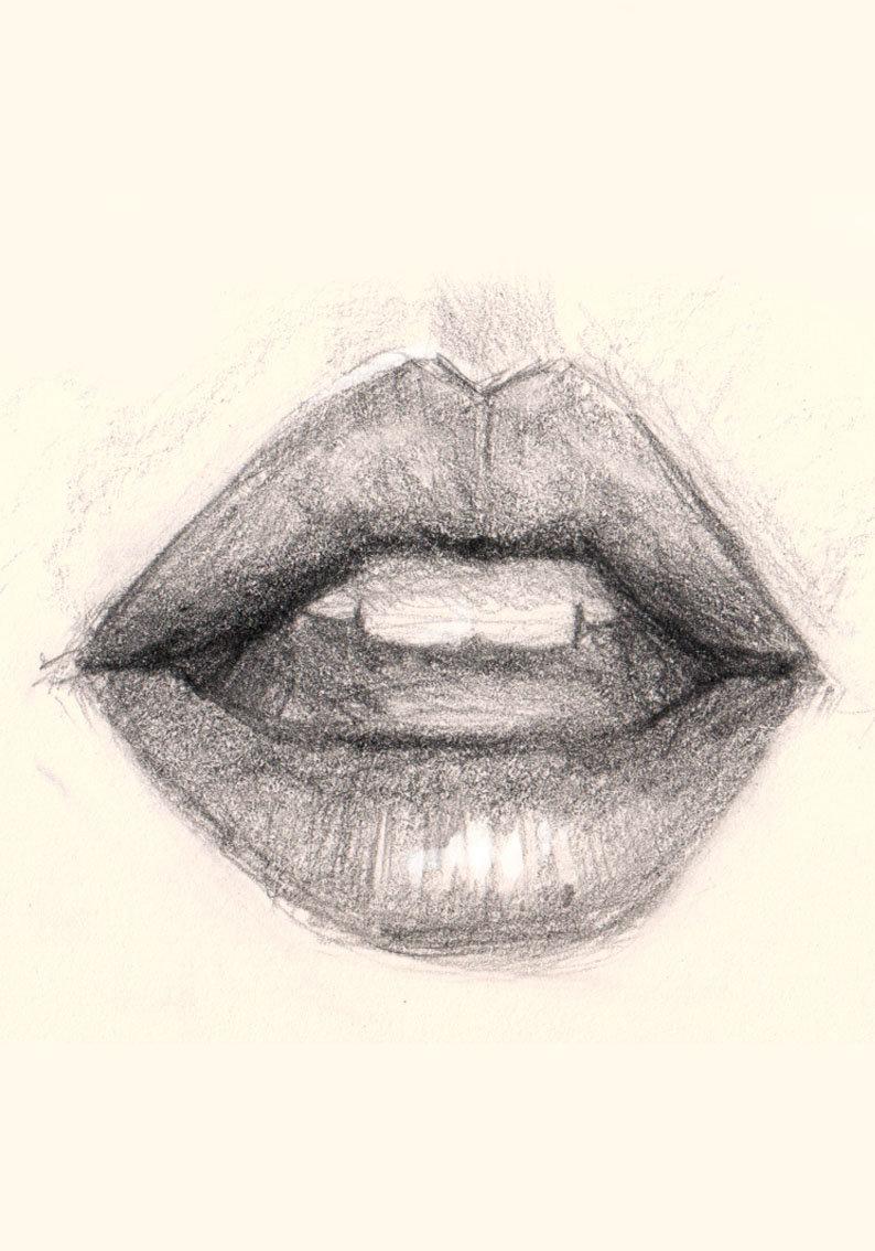 картинки как рисовать губы красивые