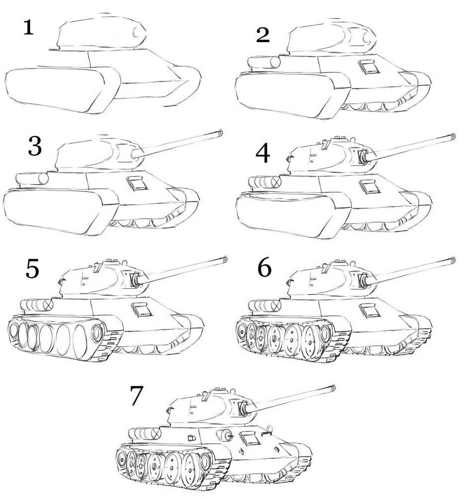 картинки танков рисовать чашу