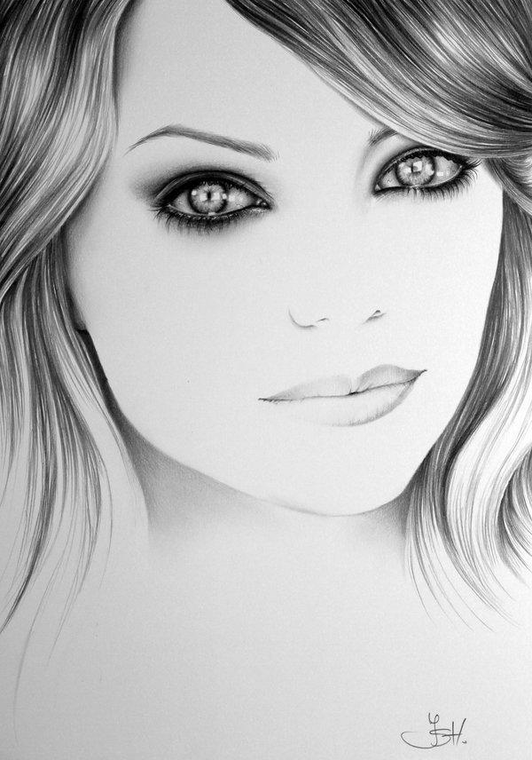Фотки нарисованных девочек карандашом