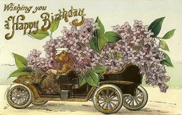 Старые английские открытки с днем рождения
