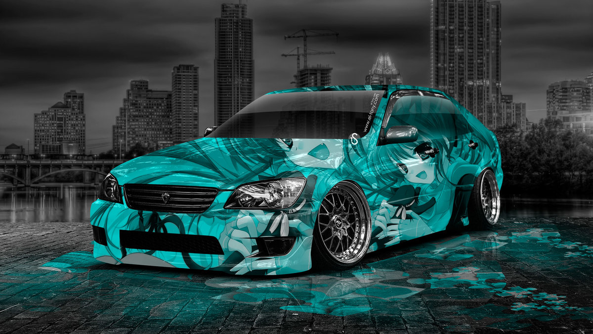 Toyota Altezza JDM Anime Aerography Girl City Car