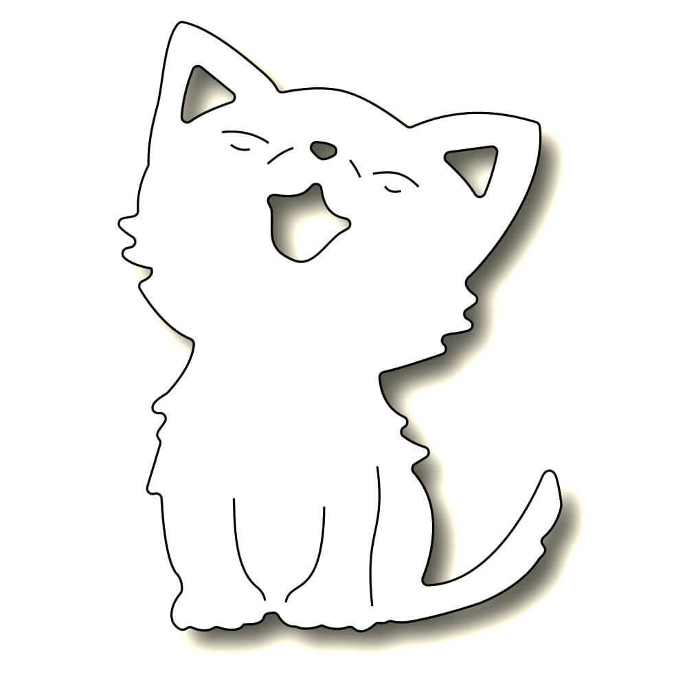 Картинки для вырезания из бумаги кошки