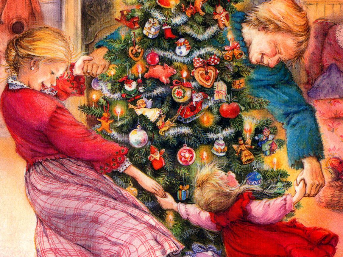 С новым годом открытка семья, интернет магазин