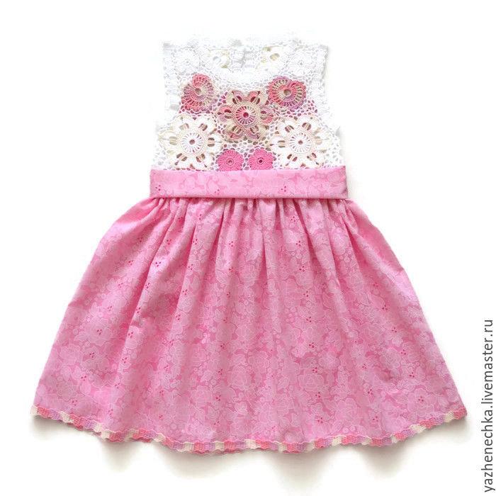 cefc6c3c05d ... Платье из хлопка для девочки Бабочки - купить или заказать в интернет- магазине на Ярмарке