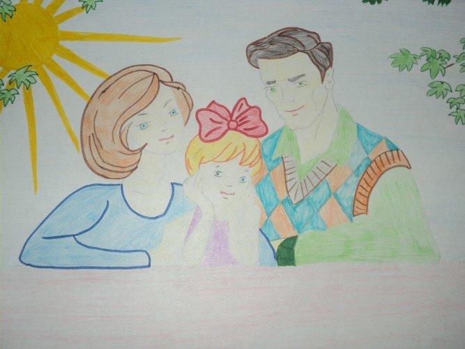 актуальную рисунок своей семьи картинки форсаж