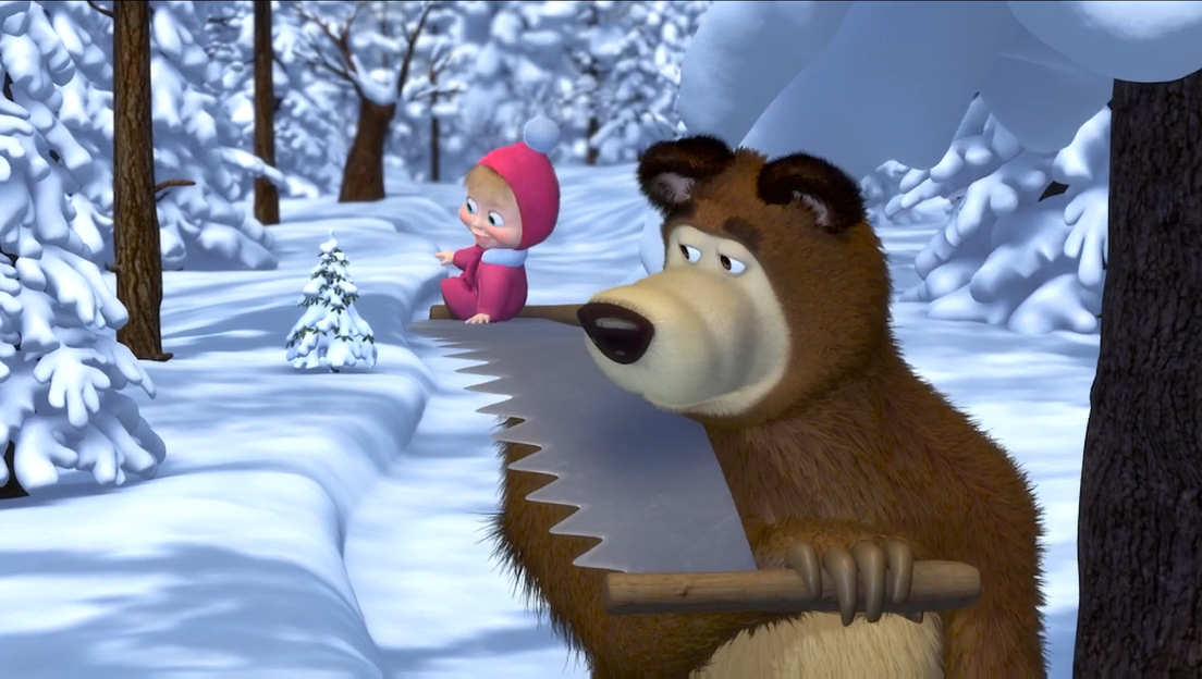 картинки маши и медведя зима задирала виновных только дизелем