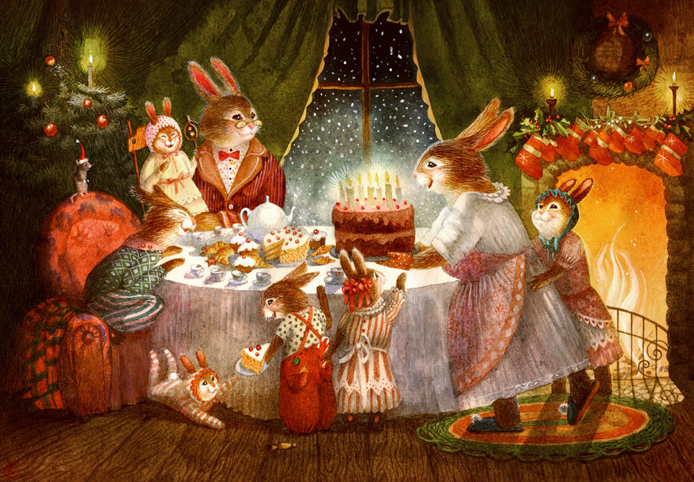 Гифка с наступающим Новым Годом и Рождеством - Поздравительн