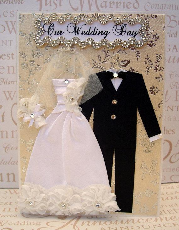 Открытка на свадьбу своими руками платье