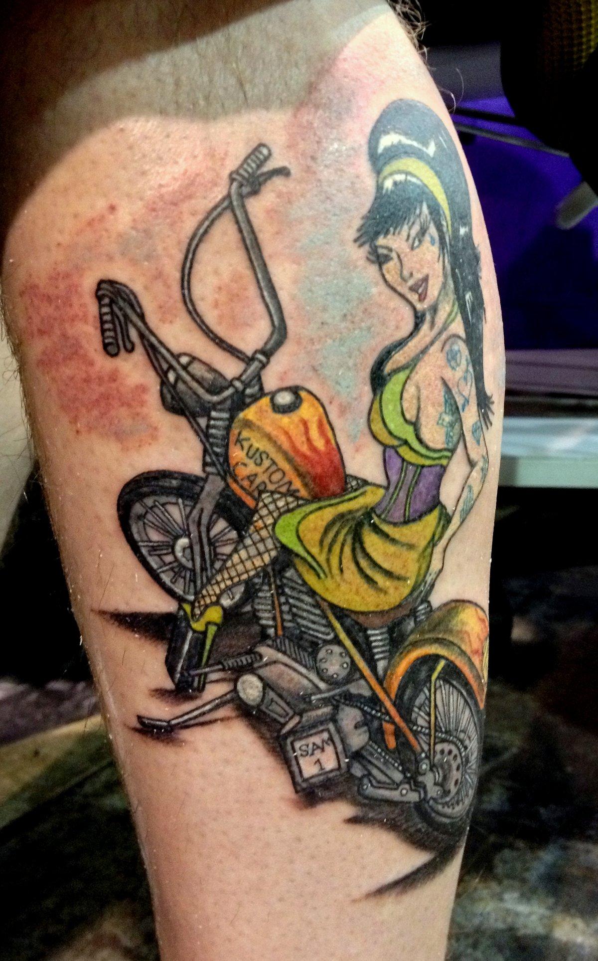 Tattoos ww2 pin up girl