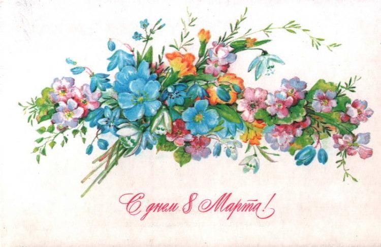 советские открытки с цветами картинки нежно-розовые, ближе отцветанию