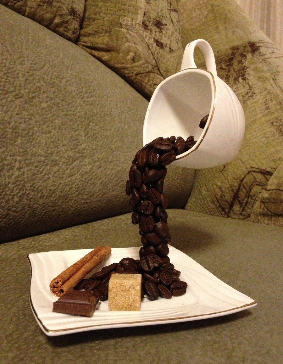 это время кружка из кофейных зерен своими руками фото вне
