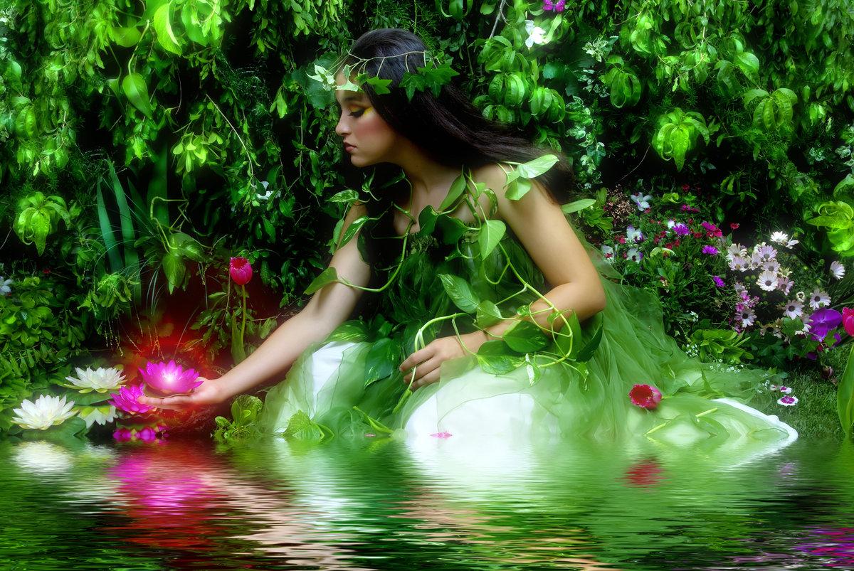 Открытки с красивой природой и женщиной, днем рождения картинки