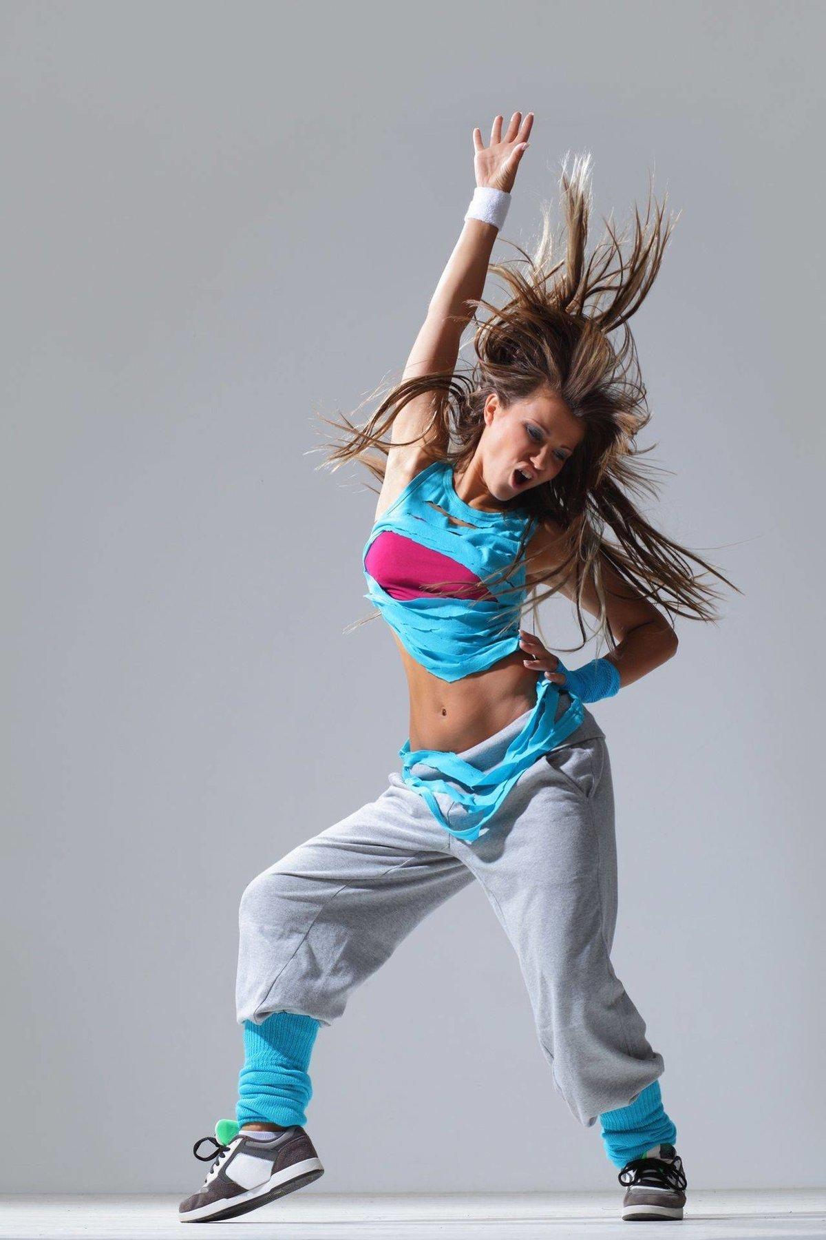 Sexy zumba dancers