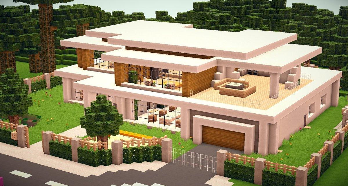 Minecraft Villa Modern Beautiful Minecraft Seeds Card From User