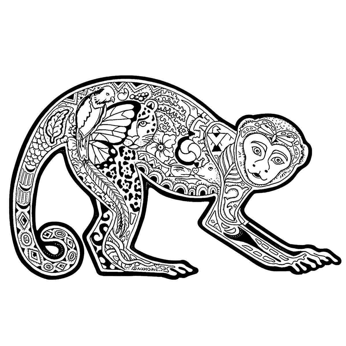 японских картинки узорчатых животных пусть люди твердят