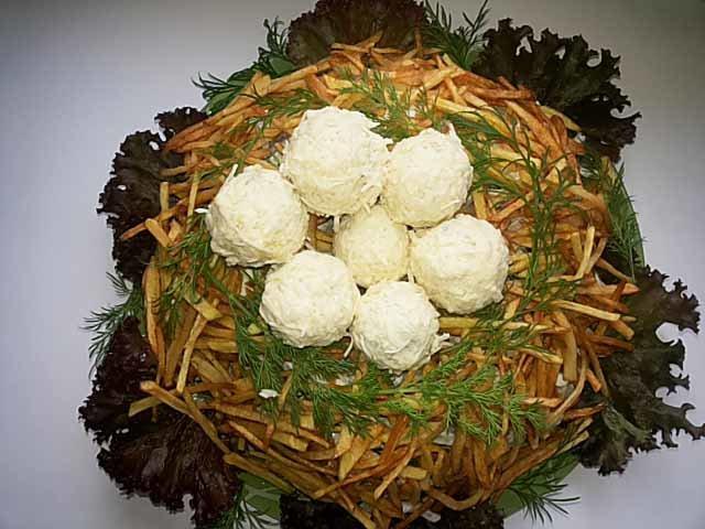 опыт салат орлиное гнездо рецепт с фото можете увидеть