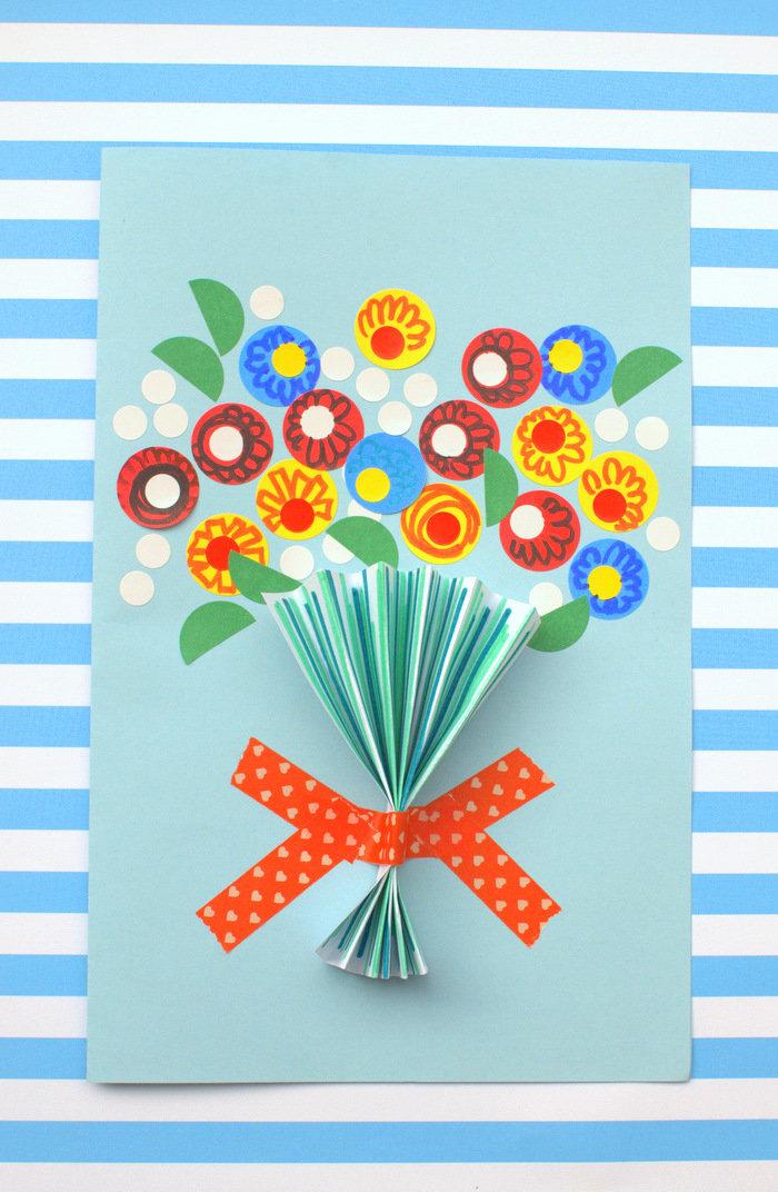 Как на 8 марта сделать открытку маме на день, апреля